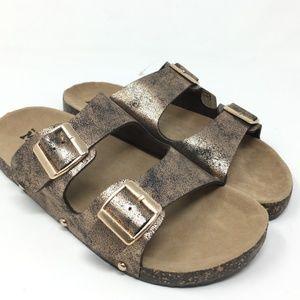 New mudd slides sandals brown bronze